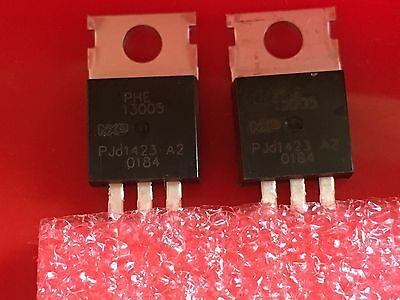 x2 NXP PHE13005 NPN High Voltage Bipolar Transistor  RATING: 4A / 400V NEW!!