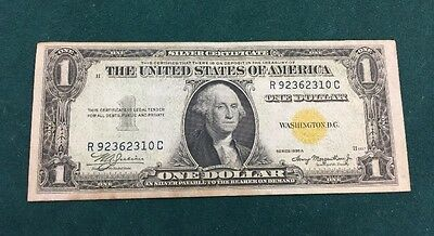 1935 A $1 North Africa Silver Certificate Yellow Seal