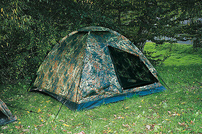 3 Person Army Tent three Man BW Bundeswehr Camouflage Camping