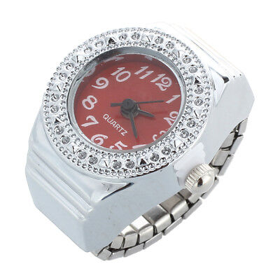 Quartz ring watch ring round, women's jewelry dial numbers Rouge Arabic N6K3