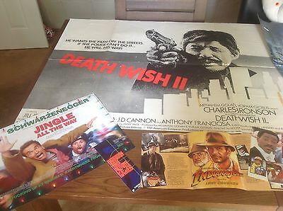 Job Lot Bundle Of Vintage Posters Death Wish 2 Police Academy Quads & Lots More.