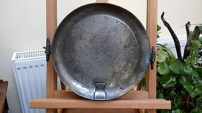 Antique Pewter Plate Warmer
