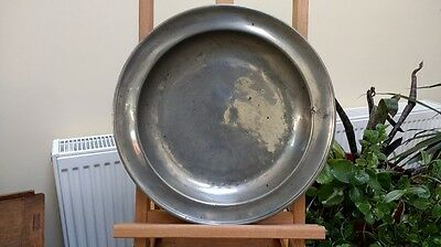 Antique Single Reeded Pewter Dish/Bowl