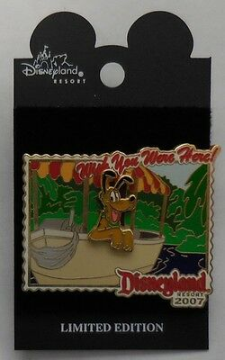 Disney Pin DLR Wish You Were Here 2007 Jungle Cruise Pluto Pin LE1000