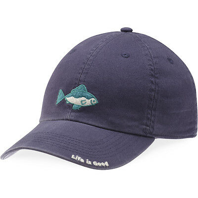 Life is Good. Kid's Chill Cap - LIG Fish, Darkest Blue