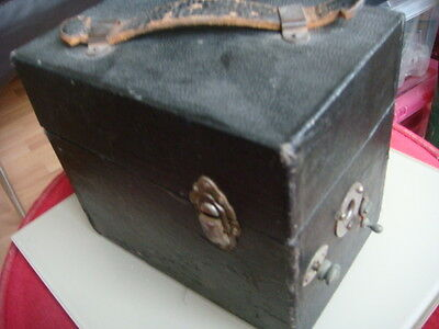 Vintage Box Camera Size Jehovah,s  Witness Wind Up Gramaphone Record Player