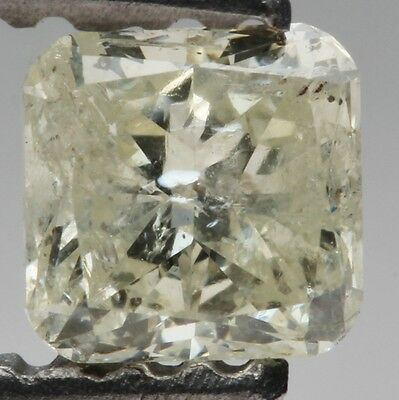 0.42ct Fancy Rare Yellow-Green Cushion Cut Loose Diamond