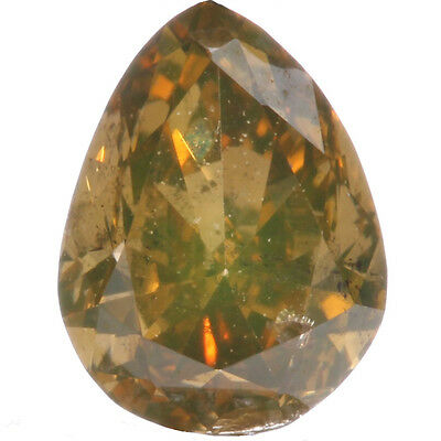 0.30ct Orange-Brown Pear Shape Loose Diamond