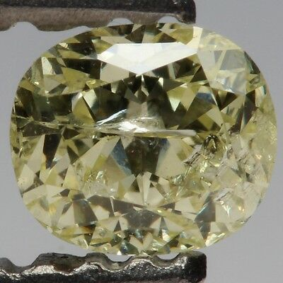 0.44ct Oval Cut Fancy Yellowish Green Loose Diamond