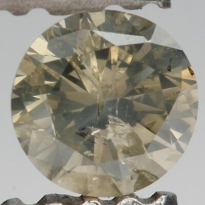 0.25ct Round Brilliant Loose Diamond Brownish Yellow