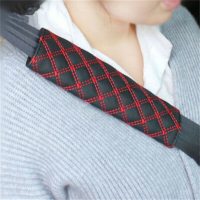 2Pcs Car Safety Seat Belt Shoulder Pads Cover Cushion Harness Pad Protector FTS