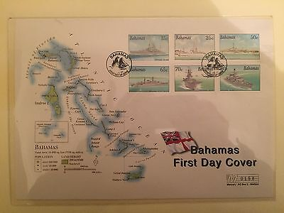 Bahamas 2001 HISTORY OF ROYAL NAVY FIRST DAY COVERS X 7