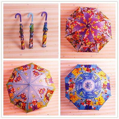 Hot Cute Pokemon Go Pikachu Cartoon Children Kids Umbrella Parasol XMAS Gift