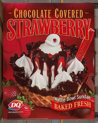 Dairy Queen Promotional Poster Chocolate Covered Strawberry Sundae dq2