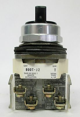 Allen-Bradley 800T-J2 - 3 Position Selector Switch With 2 Contact Blocks