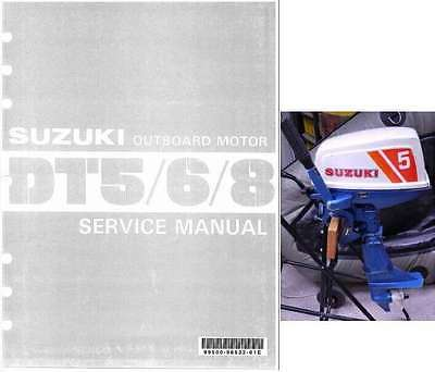 79-92 Suzuki DT5 DT5W DT6 DT8 2-Stroke Outboard Motor Service Repair Manual CD