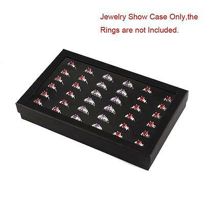 Hot Sale 36 Slots Ring Storage Ear Display Box Jewelry Organizer Holder Case