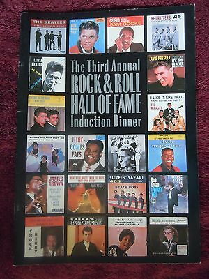 Rock and Roll Hall of Fame Program The Beatles Bob Dylan The Beach Boys RARE