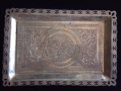 Persian Antique Silver Tray