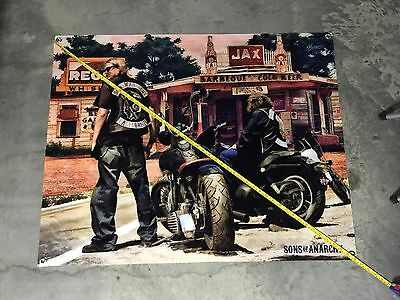 Sons Of Anarchy banner motorcycle harley poster jacket vest leather jeans us 6