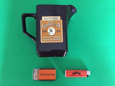Old Grand Dad Pitcher, Matches & Lighter (WORKS)