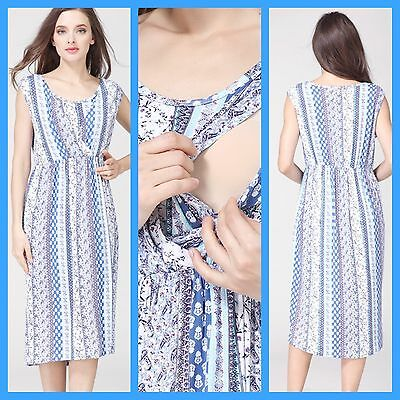 Sale! Bnwt Paisley Maternity Breastfeeding Nursing Dress Size M L Xl 10 12 14 16