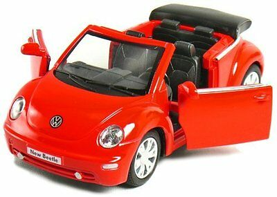 """New 5"""" Volkswagen New Beetle Convertible 1/32 diecast model toy car vw Red"""