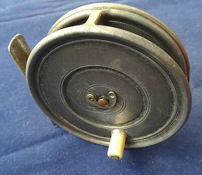"""Scarce 1919/21 Straight Line Dup. Mk 2 Check Hardy 3 3/8"""" Uniqua Trout Fly Reel"""