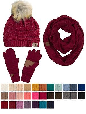 ScarvesMe CC Beanie Cable Knit Confetti Beanie Thick Soft Warm Winter Hat - Unis