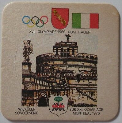 Montreal 1976 Olympic Games Beer Mat Coaster Team Italy 1960 Rome Olympics