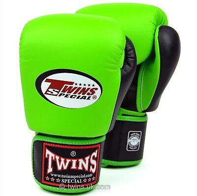 Twins Special Bgvl-3T Green/Blk 14oz Muay Thai/ Boxing Gloves