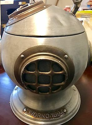 Vintage Maritime Deep Sea Diver Helmet Ice Bucket Made In Italy Pentertone 1970