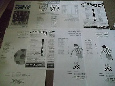 Manchester City V Preston North End Reserves Yt Programme Collection 1990 - 1996