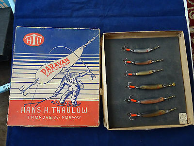 A Scarce Vintage Paravan Of Norway Trade Box Of Fishing Lures