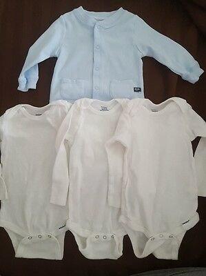 Mixed Lot 12 Months Baby clothes Carter Jacket and Gerber One Pieces