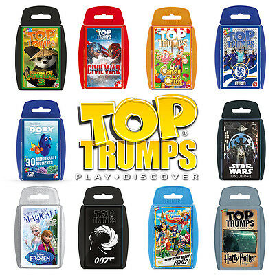 Top Trumps Card Games - Largest Range - New Editions - Choose your favourite