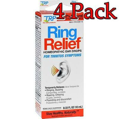 Ring Relief Homeopathic Ear Drops, 0.33oz, 4 Pack 858961001334S699