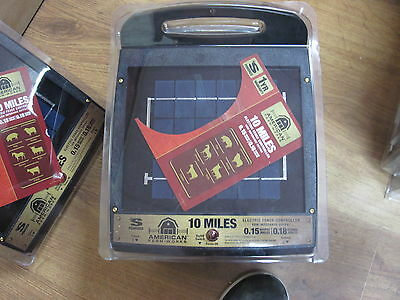 NEW! American Farm Works 10 Mile Solar Electric Fence Controller Charger
