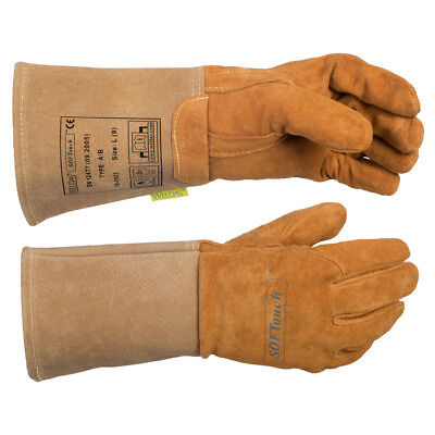 WELDAS SOFTouch™ Top Grain Reverse Pigskin TIG Welding Glove, HIGH QUALITY