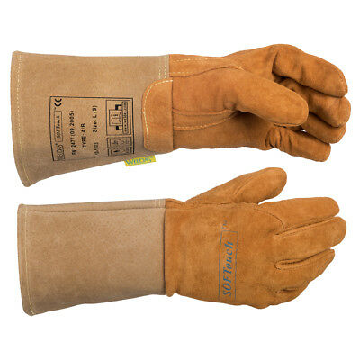 WELDAS SOFTouch, Top Grain Reverse Pigskin, TIG Welding Gloves, HIGH QUALITY