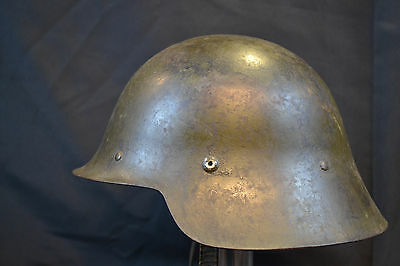 "RARE ORIGINAL SPANISH CIVIL WAR WWII SPAIN M26 EARLY HELMET ""Con ala"" & LINER"