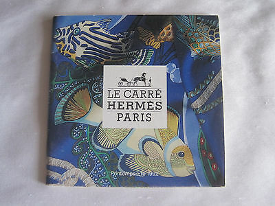 Hermes Le Carré Paris Scarf Catalog Spring-Summer 1992 English/French