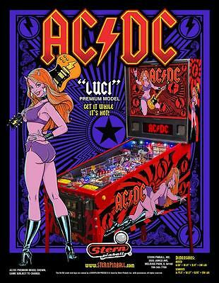 Ac/dc Luci Pinball Machine New In Box One Of Apparently 171 Made World Wide