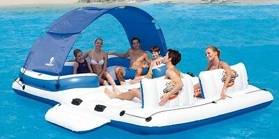 Giant Inflatable Floating Island Raft Pool Ocean Lake 6 Seater floating lounge