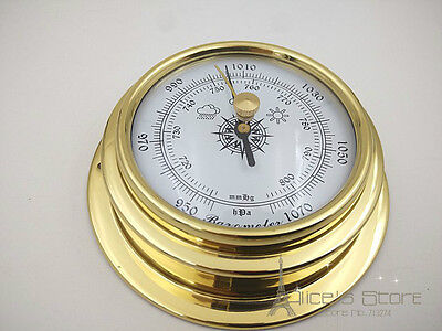 70mm Brass    enclosed Barometer