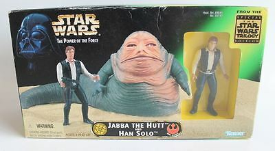 Star Wars POTF2 Jabba the Hut & Han Solo Playset Triology Edition Kenner