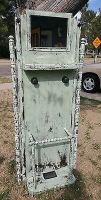 Antique Hall Tree Umbrella Stand Hat Rack Milk Painted Upcycled Beauty!!!!
