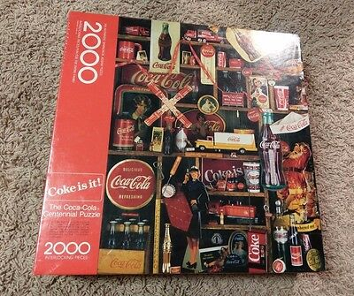 The Coca-Cola Collectible Centennial 2000 Piece Puzzle 1986 by Springbok Sealed