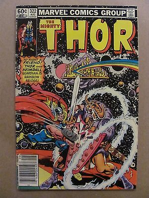 Thor #322 Marvel Comics 1966 Series NEWSSTAND EDITION