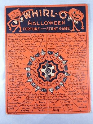 Vintage Halloween WHIRL-O FORTUNE AND STUNT GAME Halloween Party Game